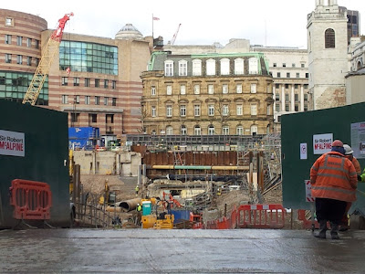 Temple of Mithras stays boxed as London's big dig continues