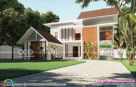 Fusion style Kerala home design with 6 bedrooms