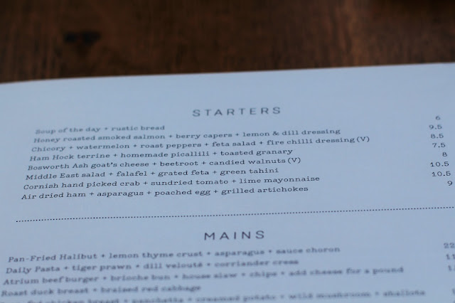 Dinner at Atrium Kitchen, Camden - London restaurant blog