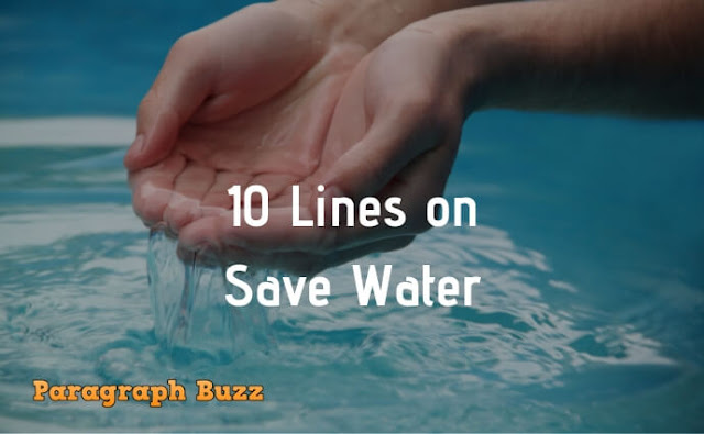 10 Lines on Save Water in English