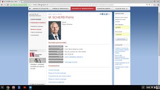 La page du site internet concernant Pierre Scherb