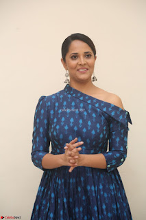 Anchor Anasuya in a Blue Gown at Jai Lava Kusa Trailer Launch ~  Exclusive Celebrities Galleries 022.JPG