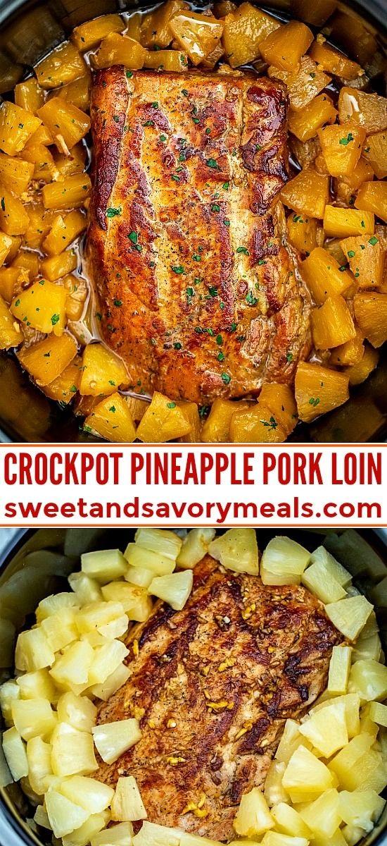 Slow Cooker Pineapple Pork Loin