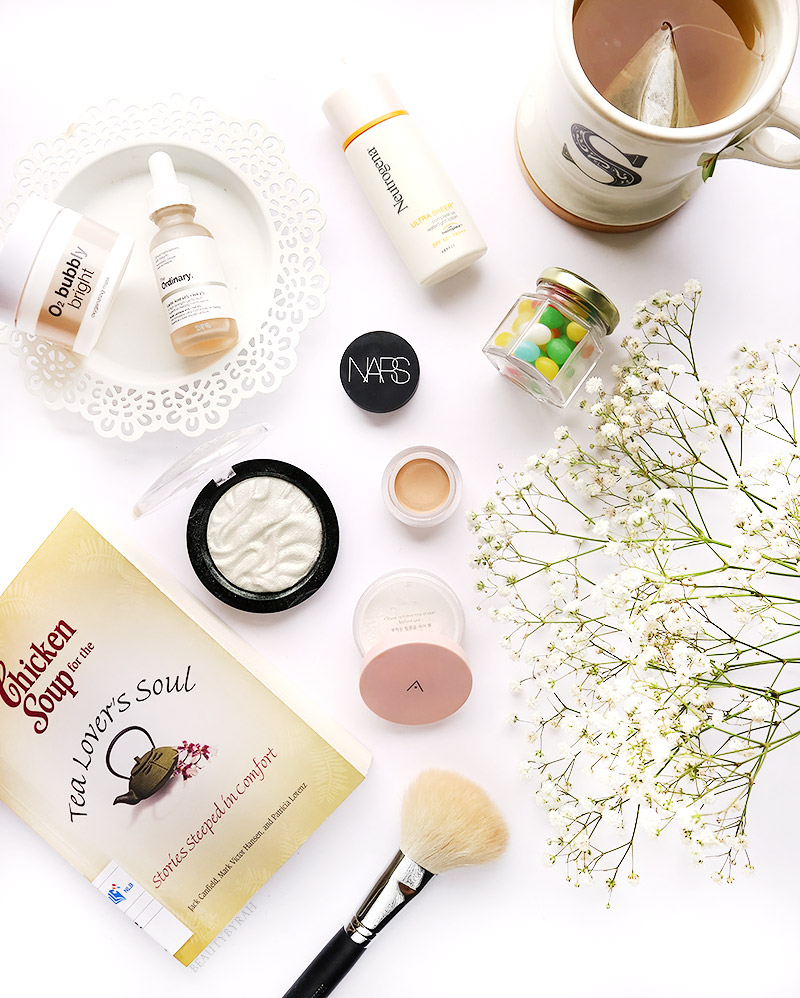Althea Petal Velvet Powder, Makeup Revolution Flash Highlighter and Bliv Bubbly Bright Mask Review