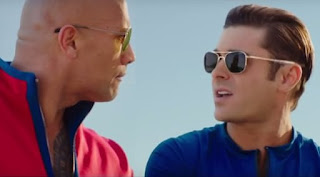 The Rock dan Zac Efron di Film Baywatch