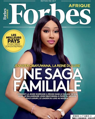 Jennifer Obayuwana stuns on the cover of Forbes Afrique