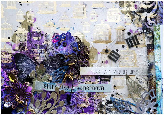 @nastyalena #scrapbooking #layout #mixedmedia
