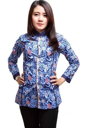 Model Baju Batik Wanita Terbaru 2017 Yang Lagi Trend