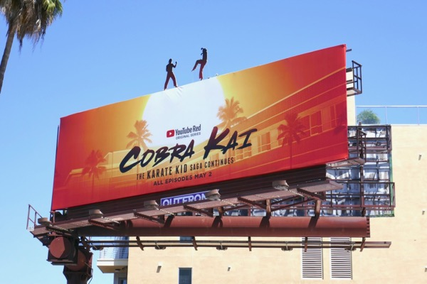 Cobra Kai extension cut-out billboard