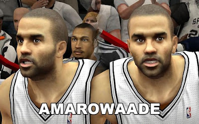 NBA 2K13 Tony Parker Cyberface Patch