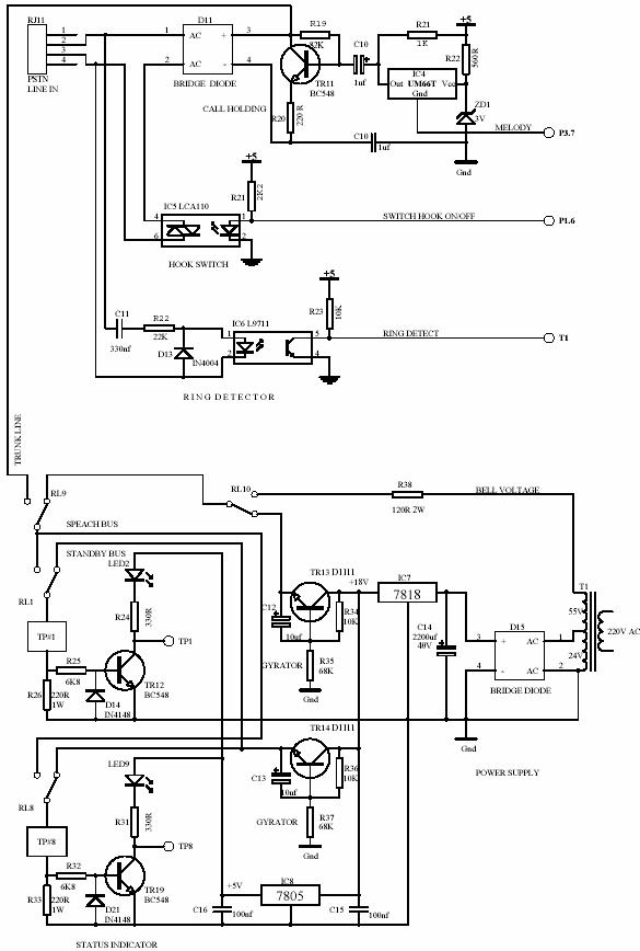 pabx telephone system diagram