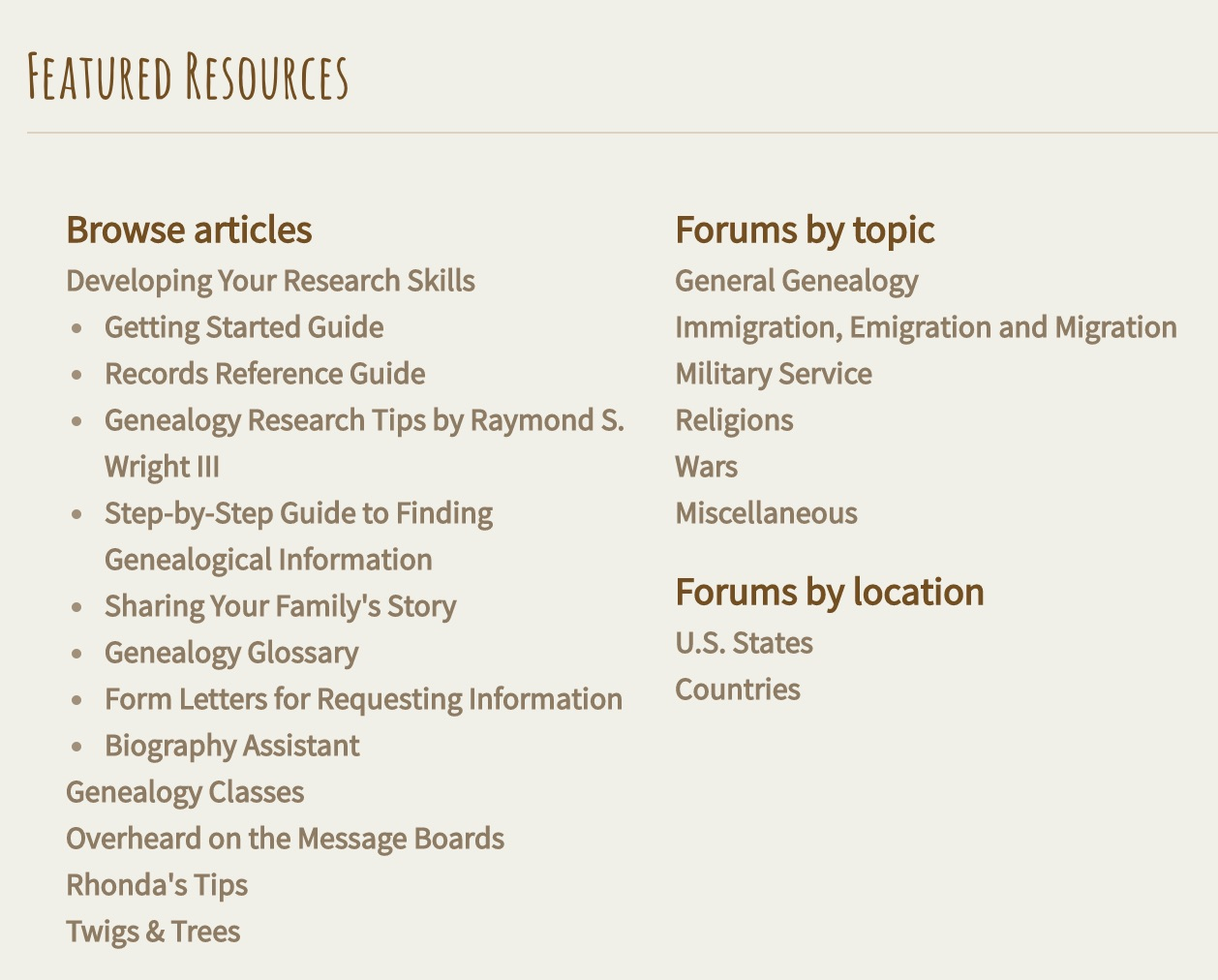 family research topics