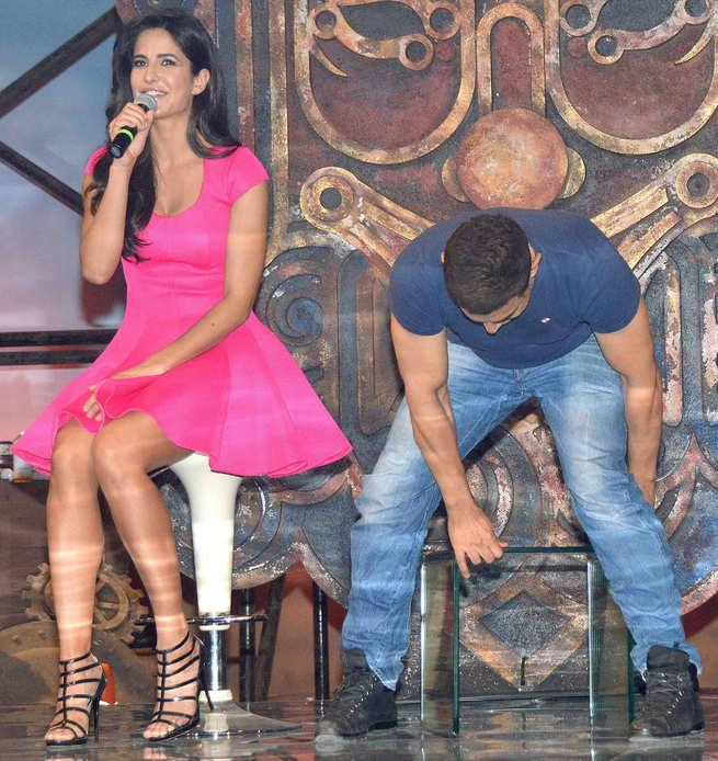 Katrina Kaif with Aamir Khan