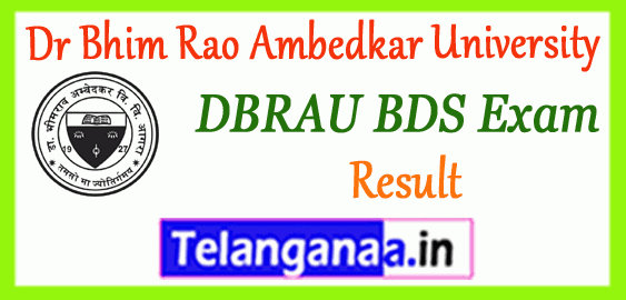 DBRAU BDS Dr Bhim Rao Ambedkar University Bachelor of Dental Surgery-1st 2nd 3rd 4th Exam Result