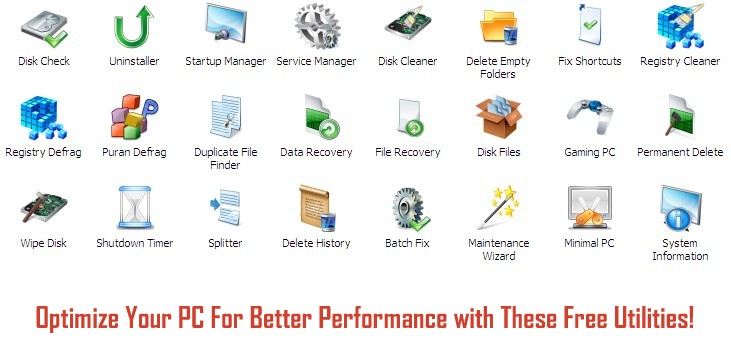 Download Best PC Optimization Software (Freeware)