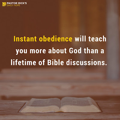 Obedience Is an Act of Worship by Rick Warren