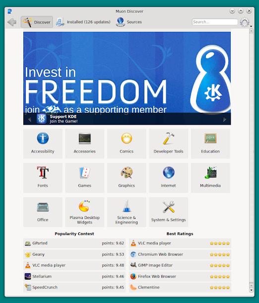 Kubuntu、Netrunnerにリポジトリを追加する方法。パッケージ管理ツール起動