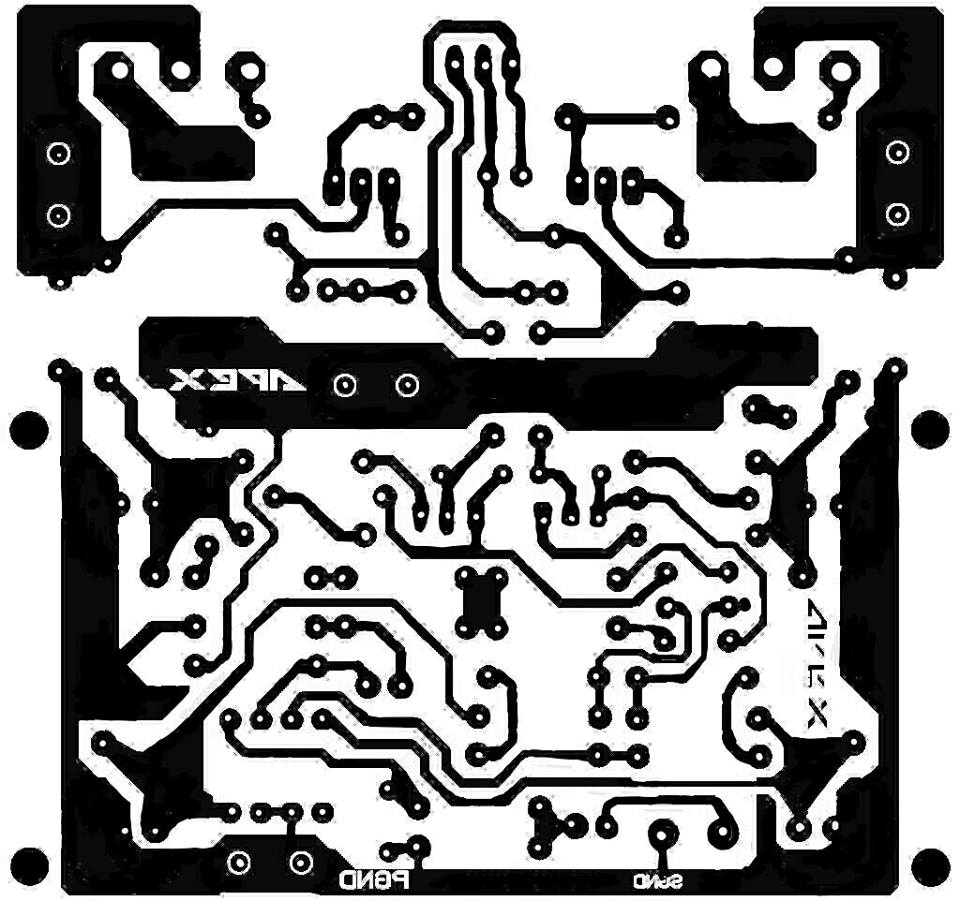 PCB Layout Power Amplifier Apex A9