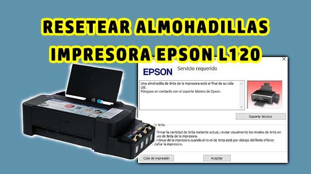 resetear almohadillas de la impresora EPSON L120