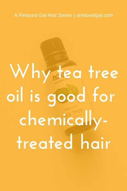 While tea tree oil can be used in a regimen for chemically-treated hair the benefits of this essential oil are more for the scalp than the actual hair strand. See more arelaxedgal.com.