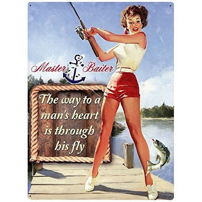 Plaque Pin-up fishing by Red Hot Lemon