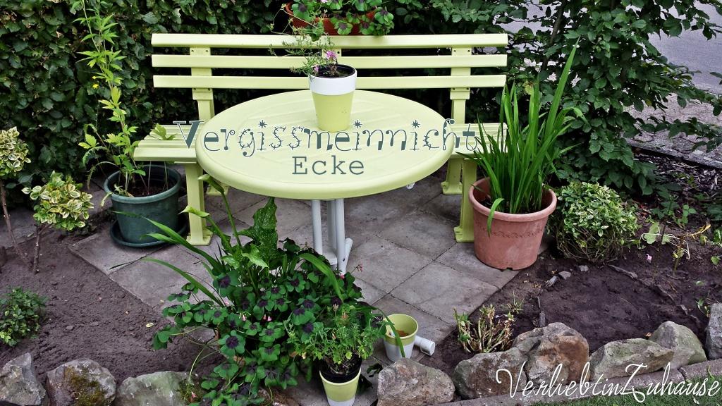 Meine Vergissmeinnicht-Ecke im Garten für meine Blumen in Not ;-)