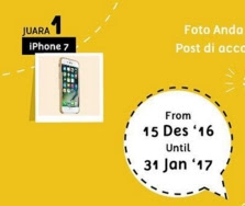 Lomba Foto januari 2017 hadiah iphone 7