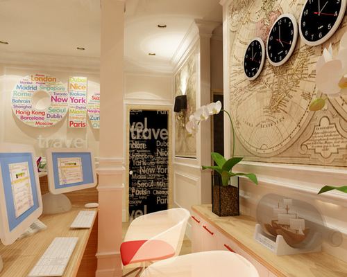 small travel agency office design