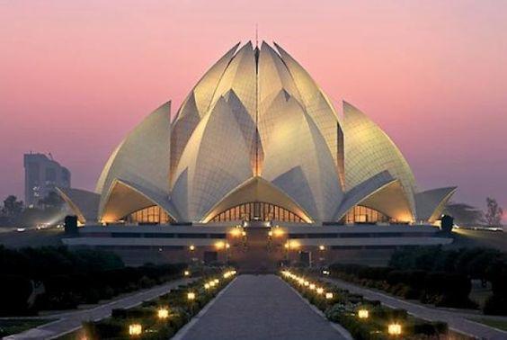 Bahai/Lotus Tapınağı/Hindistan-Yeni Delhi