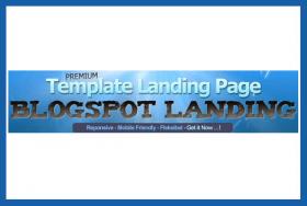 Template Landing Page (blogspot landing)