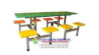 jual meja dan kursi fiber