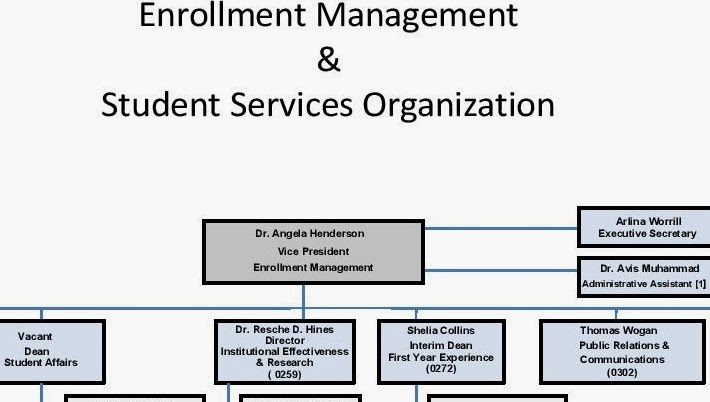 This is  portion of the enrollment management organizational chart dated november nearly nine months before henderson received her ph  also csu faculty voice administration   lies here what rh csufacultyvoicespot