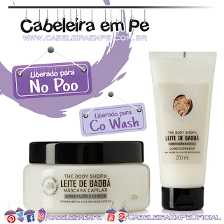 Condicionador e Máscara Leite de Baobá - The Body Shop (No Poo)