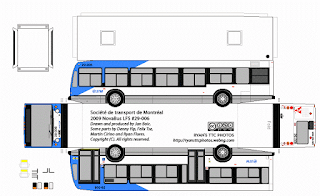PaperCraft - PaperBus 2009 NovaBus LFS - Soci t de transport de Montr al