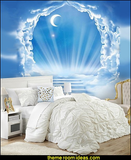 angel bedrooms decor angel bedrooms clouds heaven murals white bedding angel bedrooms decor