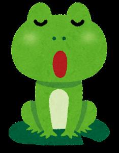 カエルの合唱のイラスト1
