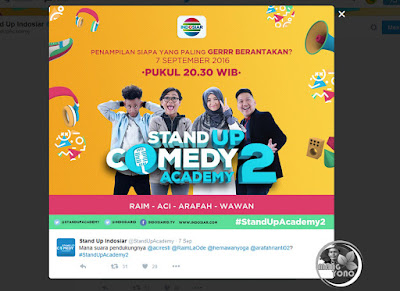 Stand up Comedy Academy 2 (SUCA 2) babak 4 besar. Sumber foto twitter @StandUpAcademy