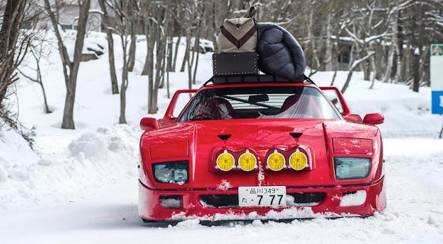 フェラーリF40で雪山やスキー場を疾走!レッドブルが大胆な映像作品を公開。