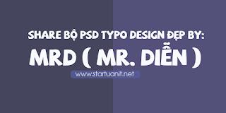 Share bộ psd typo design đẹp by MRD