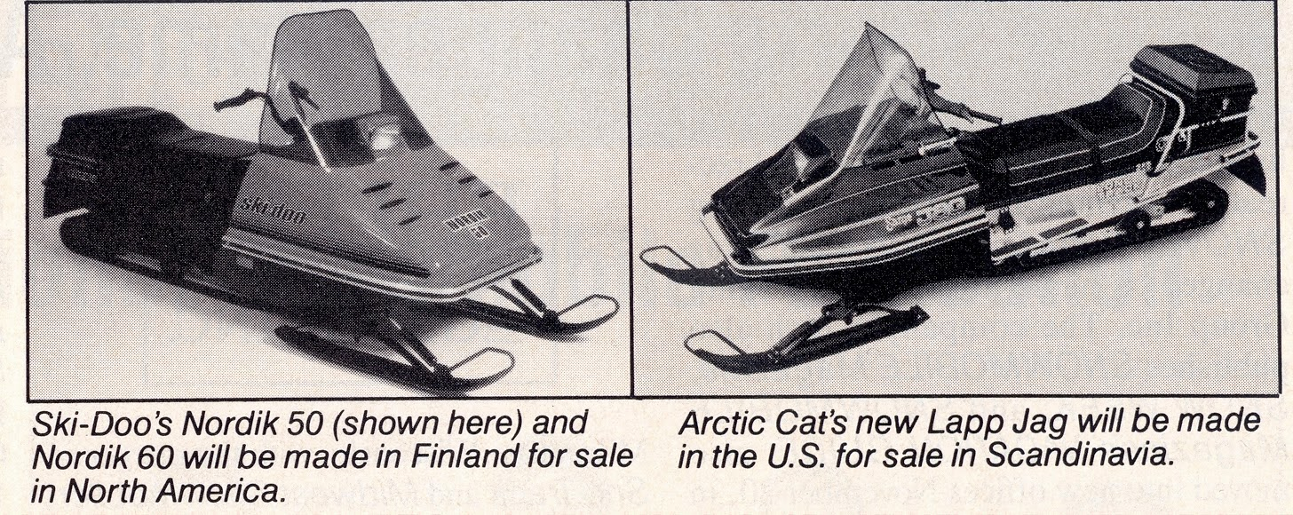 CLASSIC SNOWMOBILES OF THE PAST: EUROPEAN UTILITY SLEDS