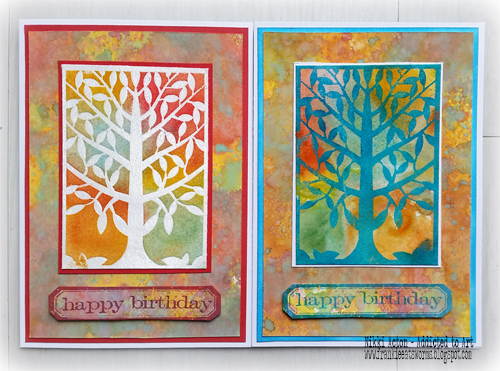 Embossing with That's Crafty Dinky Stencils and Masks - by Nikki Acton