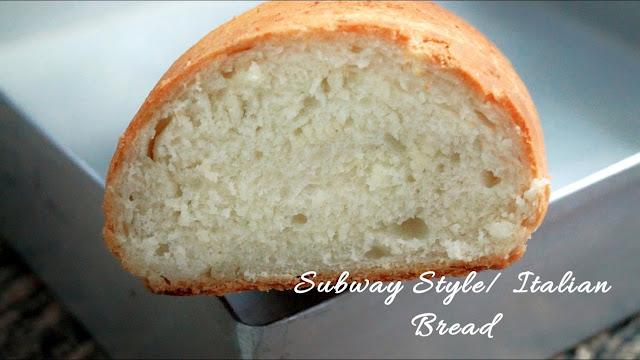 Subway Style bread/Italian Bread(Easy Italian Baguette Recipe)