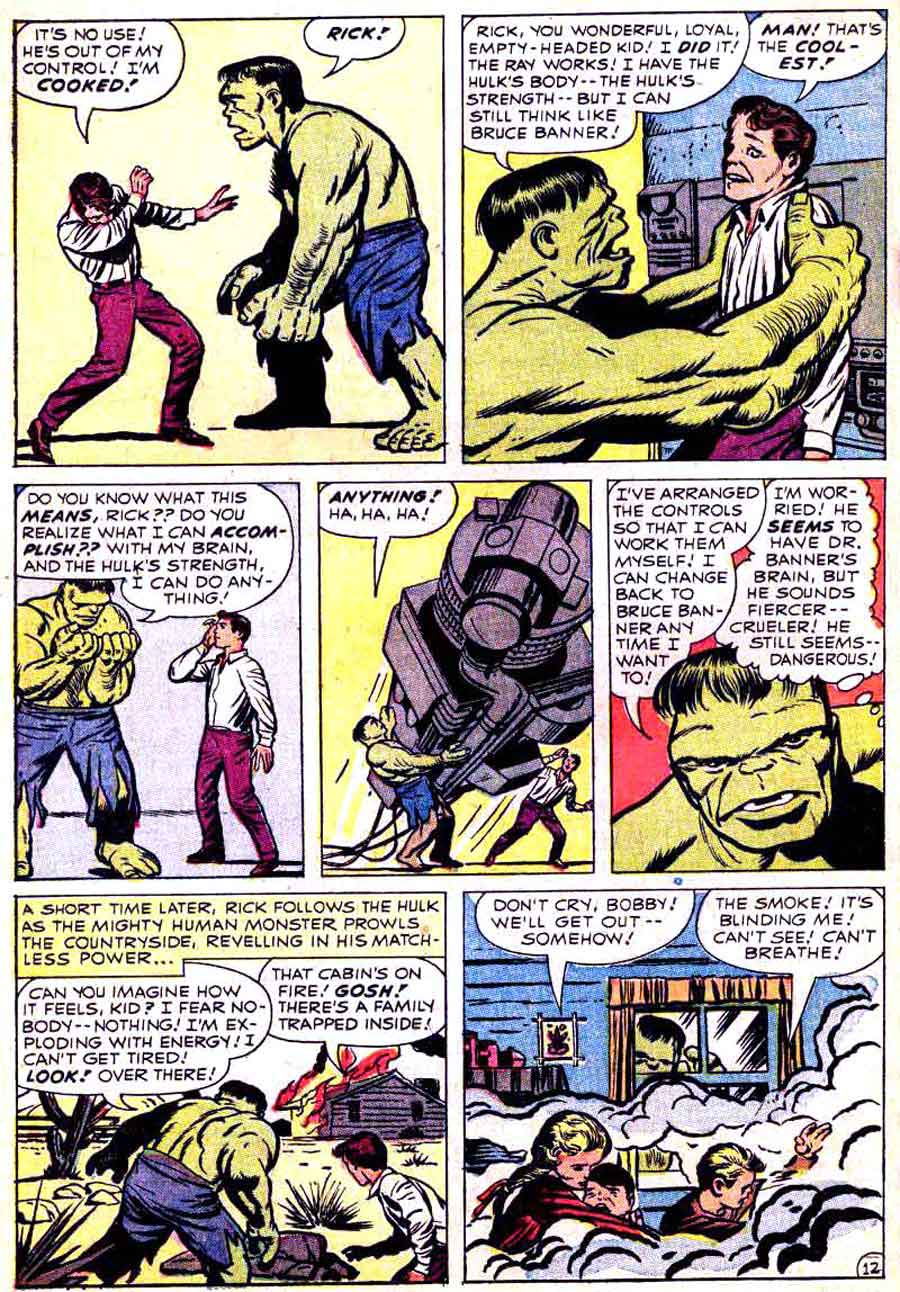 Incredible Hulk v1 #4 marvel comic book page art by Jack Kirby