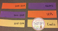 Speech Therapy Back To School Organization