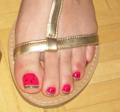 Hair Style Pretty Feet Pedicure Nail Art Designs