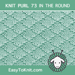 HowToknit Diamond Brocade #KnitPurl in the round