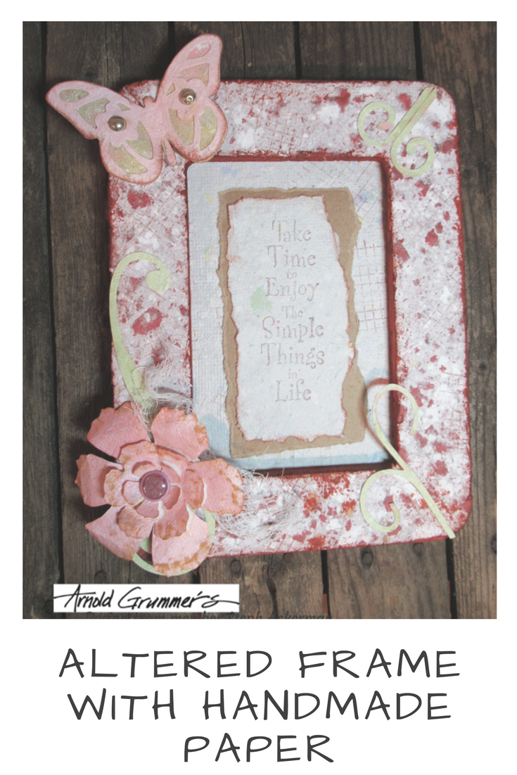 Altered Frame with Handmade Paper by Steph