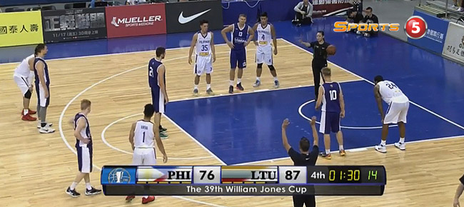 Lithuania def. Gilas Pilipinas, 91-80 (REPLAY VIDEO) Jones Cup 2017