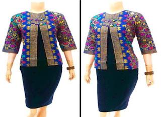 Model Baju Batik Kerja Wanita Modern Muslim