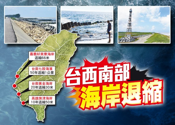 Daratan Taiwan Termakan Laut Hingga 20 Meter Dalam 30 Tahun Terakhir, Jika Terus Terjadi Maka Taiwan Akan Tenggelam